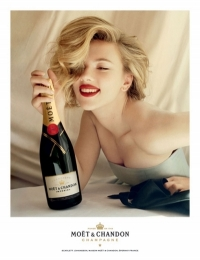 Scarlett Johansson for 2011 Moet & Chandon Ad Campaign