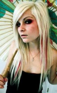Blonde Pin Straight Hairstyle