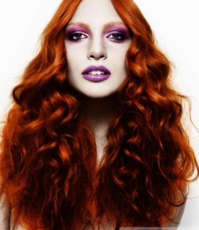 Long Red Hair Style