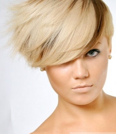 Pictures Short Hairstyles Fabulous Two Tone Pixie Haircut
