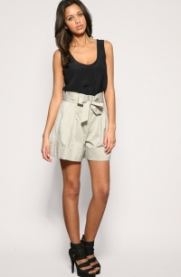Tie-Waist Shorts Fashion Trend 2010