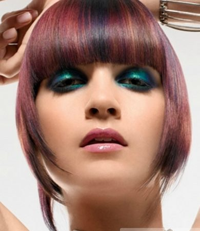 Cool Colorful Bangs Hair Style Idea