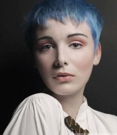 Amazing Blue Pixie Haircut
