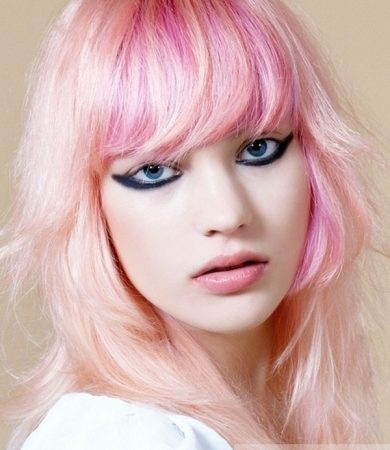 Funky Pink Hair Color Idea