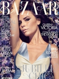 Victoria Beckham Covers Harper's Bazaar UK May 2012