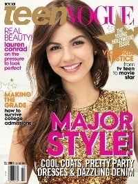 Victoria Justice Covers Teen Vogue October 2012