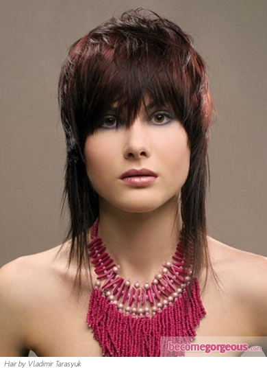 Pictures Medium Long Hairstyles Medium Feather Cut Hair Style