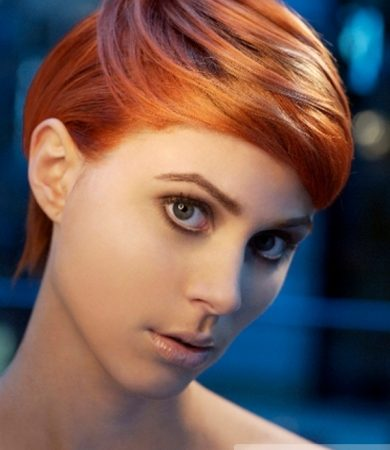 Short Red Pixie Hair Style