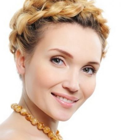 Glam Braided Updo Hair Style