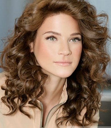 Long Brown Curly Hair Style