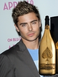Zac Efron Treated with $100K Bottle of Champagne in Chicago Club