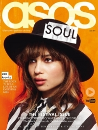 Zoe Kravitz Covers 'Asos' Magazine July 2011