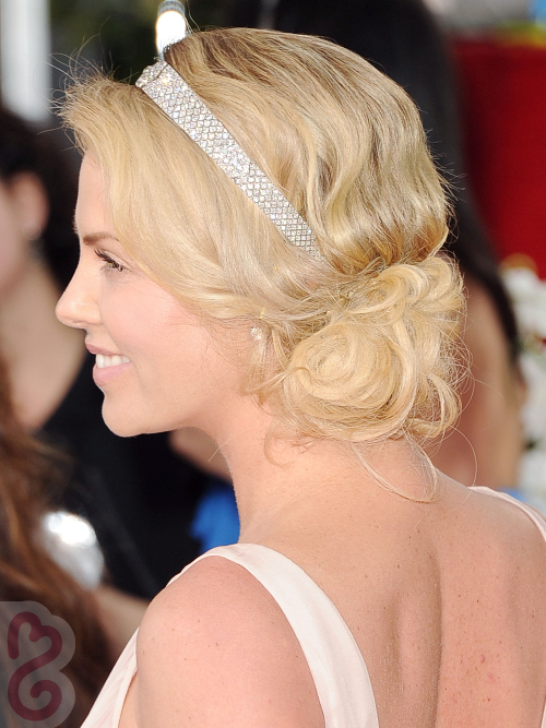 Charlize Theron Side Chignon Side View