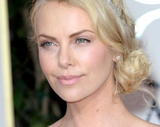 Charlize Theron Side Chignon Updo