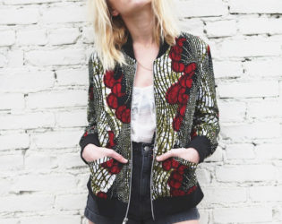 Della X Urban Outfitters Printed Jacket
