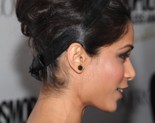 Feida Pinto Beehive Updo Side View