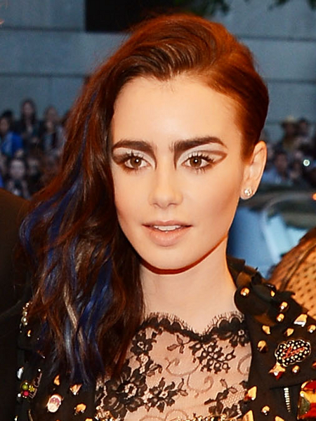 Lily Collins 2013 Met Ball Hairstyle