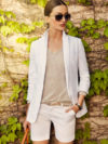 Massimo Dutti White Jacket And Shorts
