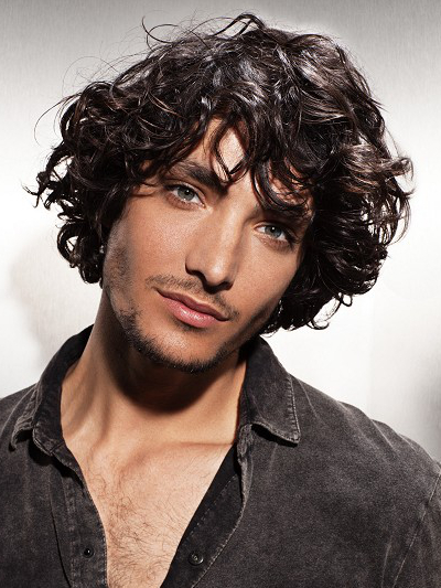 Mens Curly Shag Hairstyle