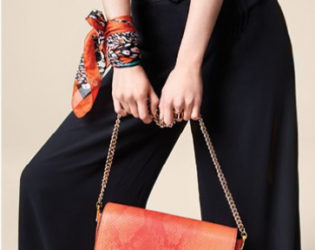 Parfois Snake Print Shoulder Bag