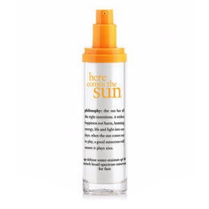 Philosophy Here Comes The Sun Age Defense Water Resistant Sunscreen