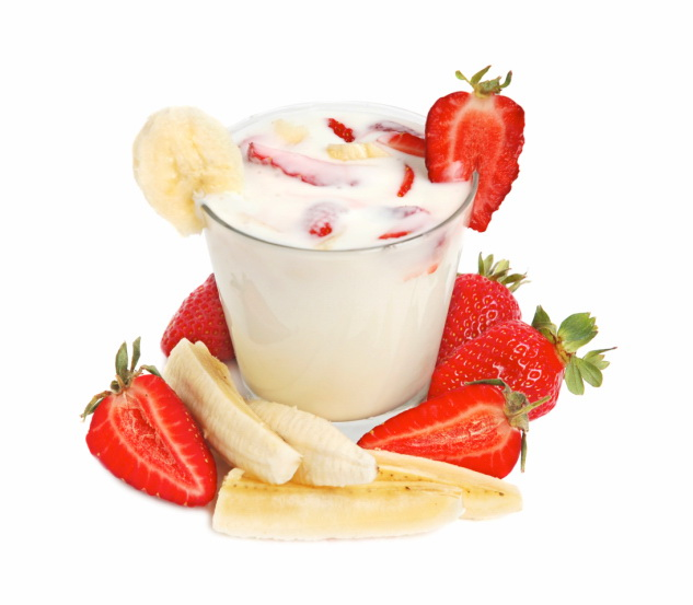 Protein Shake With Bananas And Strawberries