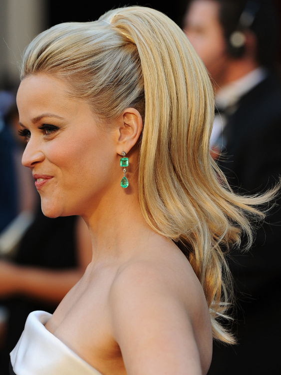 Reese Witherspoon Oscar Ponytail Hairstyle