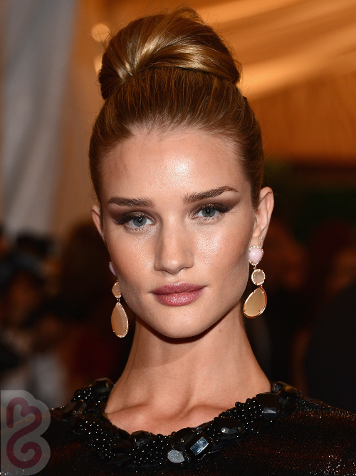 Rosie Huntington White High Updo