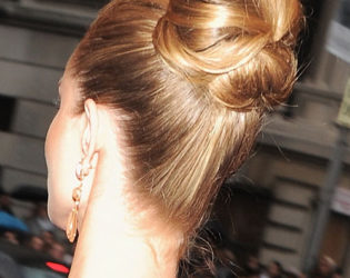 Rosie Huntington White Updo Back View
