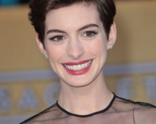 Anne Hathaway With Short Hair 2013
