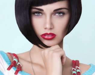 Asymmetrical Bob Hairstyle With Bangs