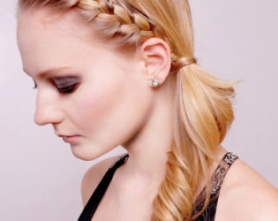 Braided Bangs Hairstyle For Growing Out Bangs By Colournation Art Team
