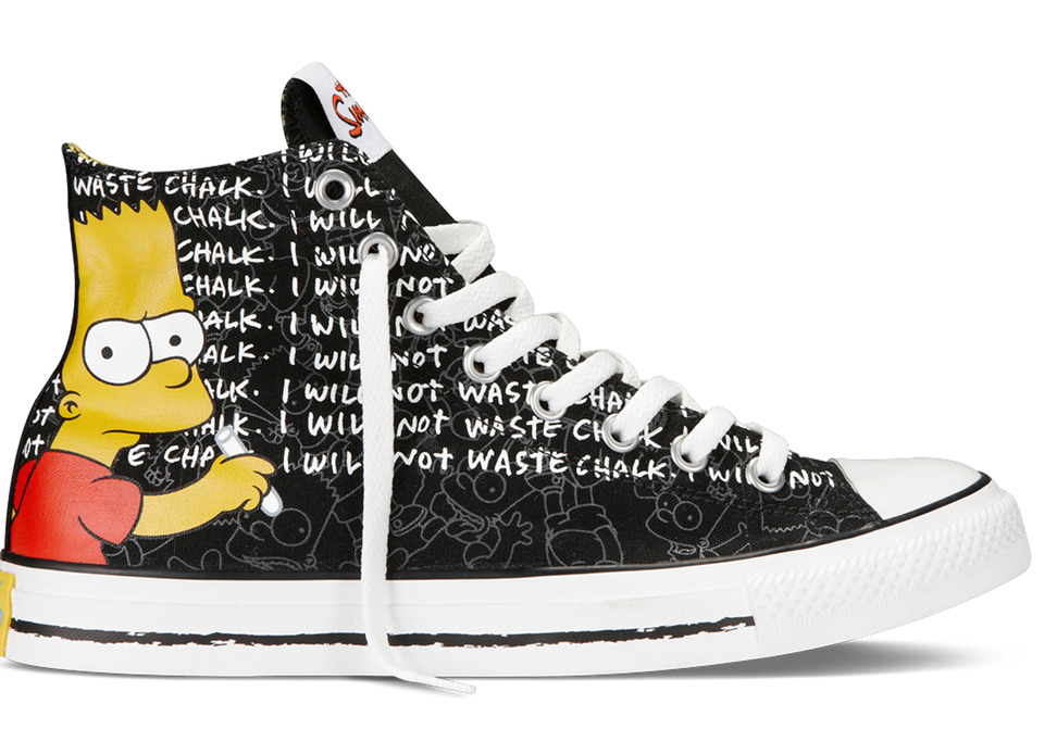 Converse The Simpsons Sneakers Bart Print