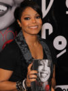 Janet Jackson Layered Bob Hairstyle With Bangs