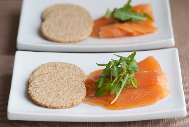 Oatcakes And Salmon