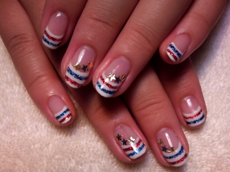 Fourth Of July Simple Nail Art