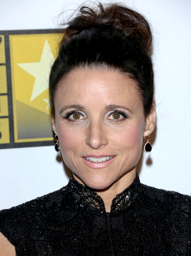 Julia Louis Dreyfus Messy Updo