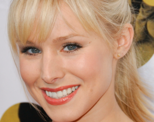 Kristen Bell Choppy Bangs
