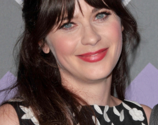 Zooey Deschanel Choppy Bangs