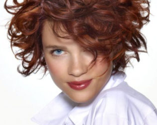 Curly Short Hairstyle With Layers