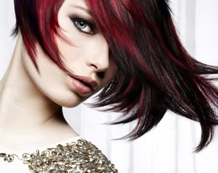 Dark Red Hair Highlights