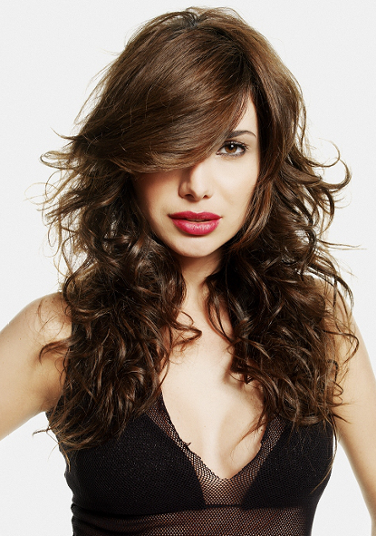 Long Tousled Hair With Side Bangs