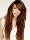 Long Tousled Hair With Side Swept Bangs