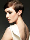 Pixie Haircut With A Deep Side Part