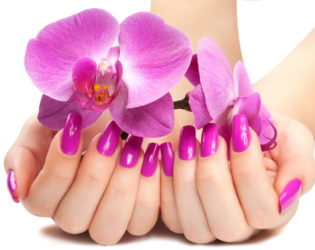 Beautiful Orchid Gel Nails