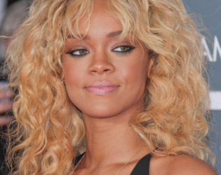 Rihanna Blonde Curly Hair