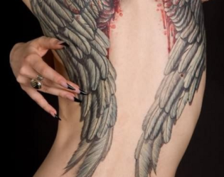 Angel Wings Tattoo For Girls