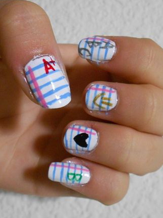 Back To School Nail Design