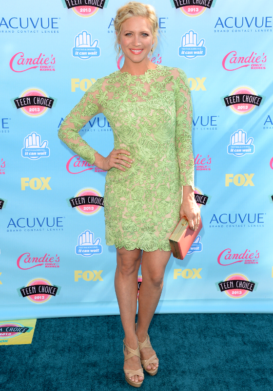 Brittany Snow Oliver Tolentino Couture Lace Dress