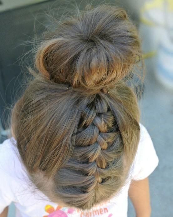 Pictures How To Style Little Girls Hair Cute Long Hairstyles For School Bun Hairstyle For Little Girls
